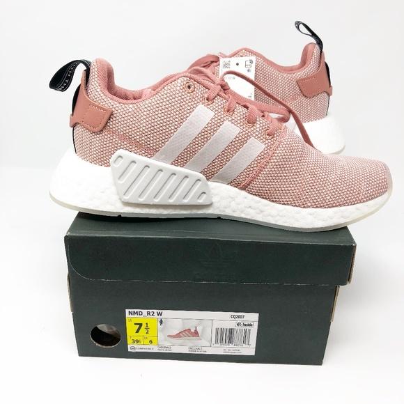 le adidas nwt nmd r2 scarpe rosa sz 75 nuovi in scatola poshmark